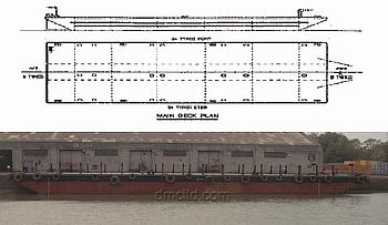 Flat top Barge For Sale - DMC Shipbrokers & Marine Consultants